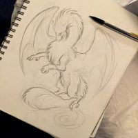 65- Dragon Creature Sketch by Lucky978