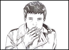 Ian Curtis by Jects