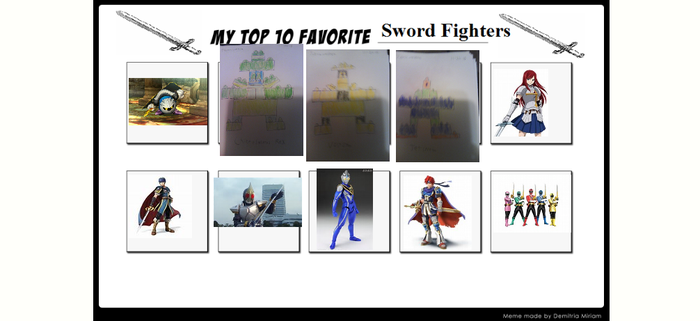My Top 10 Sword Fighters meme by pyrus125680