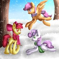 Cutie Mark Crusaders and the winter by Frozl