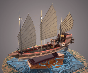 Chinese trading junk 1 by Jashma