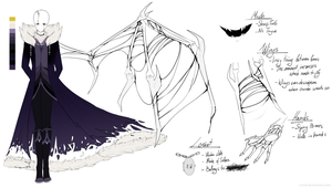 Crashtale - W.D.Gaster Reference Sheet by Aviriie