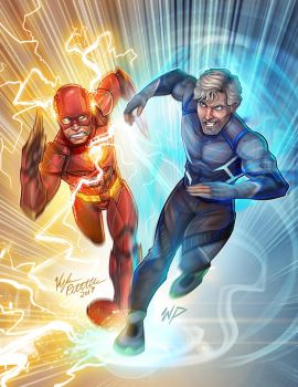 The Flash Vs Quicksilver by Puekkers