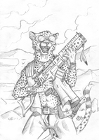 ''Daily'' sketch - Beware of Cheetahs. by 0laffson