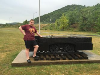 Me and the mine cart by mrbill6ishere