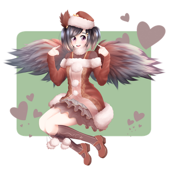 Gift: Kiki the Birb Feesh (EDITED 1/10/18) by cuteandrandom