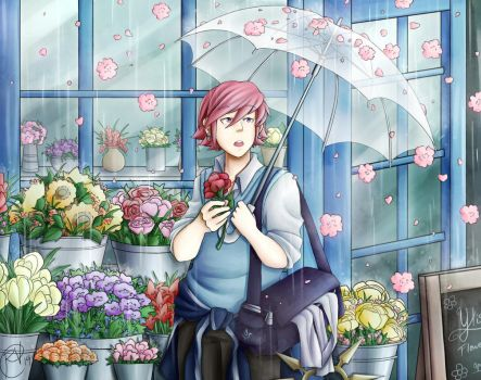 A man for flowers by SamuelFuery