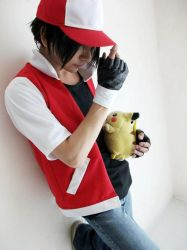 Red and Picachu by Zettai-Cosplay
