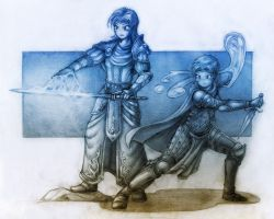 Old Concept Art #2 - The Spellblade Duo by Khornath