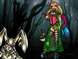 Alice with Not so White Rabbit by RoadTripz