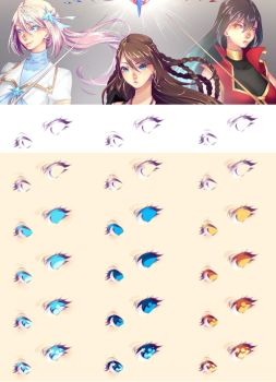 How I color Eyes - 2016 edition by rika-dono