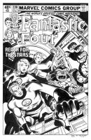 Fantastic Four #220 Cover Recreation by dalgoda7