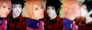 Prince Gumball + Marshall Lee, Adventure Time by hakucosplay