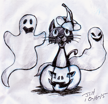 Halloween Ink sketch- Inktober by MagusTheLofty