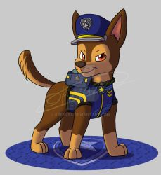 Paw Patrol Ultimate Rescue Police - Chase by kreazea