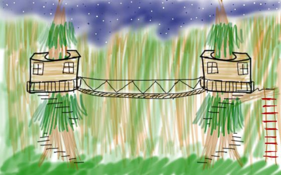 30 Day Art Challenge #2: Day 15 - Dream Treehouse by PikaInABag