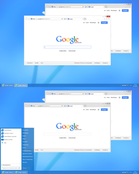 White window borders  for Windows 8.1 by gersma