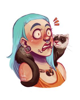 ferret by Fukari