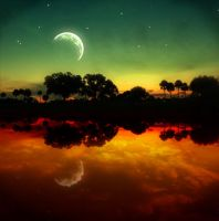 Moon by Plachinette