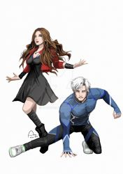 Scarlet Witch and Quicksilver by Fandias