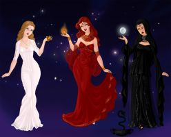 Triple Goddess by DarthCrotalus