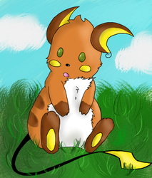 Raichu o3o by UnhappyMoustache