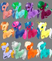 Laying Pony adopts by crazy-peach-adopt