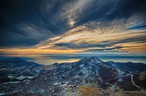 Winter Sky in the Mountains 2 by A101Photography