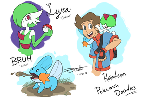 Random Pokemon Doodles by Cheetah-Burrito