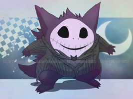 Gengar Jack skellington by Strawberry-Loupa