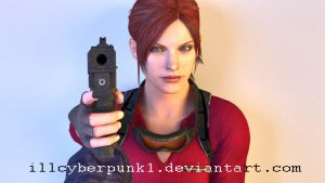 Claire Redfield render by illCyberPunk1