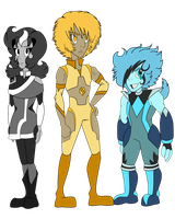 Gem Trio :colored: by Siromany