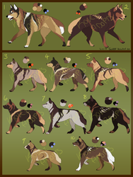 Canine Puppies Semi-real Batch One - (OPEN) by KoriAdopts
