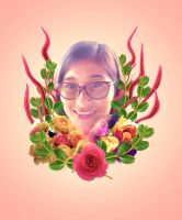 Miah's Flower Portrait by ryApache