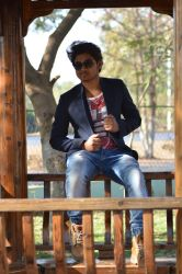 boy sitting outdoor stock by srinivascreations