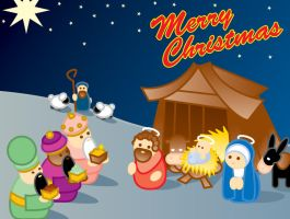 Merry Christmas Nativity by shane613