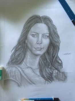 Amy Acker drawing by SXerosere