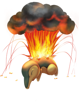 Cyndaquil used Eruption by MiladySnowdrop