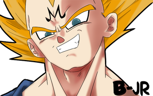 vegeta color by Bjr by DBztmk