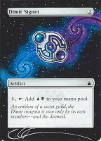 mtg Altered - Dimir Signet in Space by ClaarBar