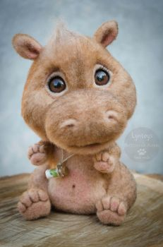 Baby Hippo Handmade Toy by Lyntoys