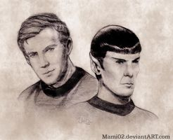 Star Trek : Kirk and Spock by Mami02