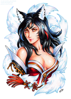 Ahri by Candra