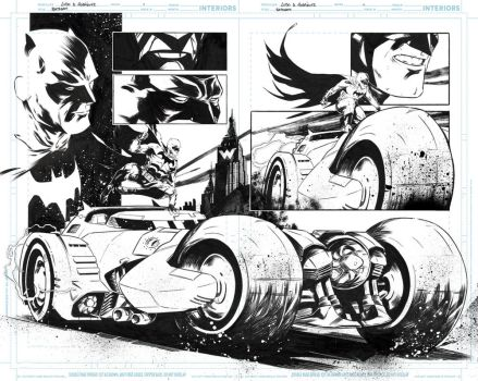 Batman [Double Page Spread] by LudoDRodriguez