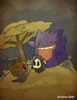 Gengar Duskull and Phantump - pokemon