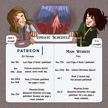 Mountain Divide Update Schedule by curiousdoodler