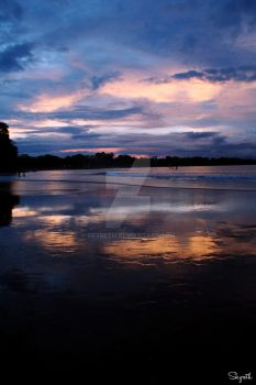Sunset at Batu Karas Beach by SkyReTh