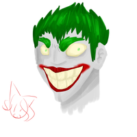 Joker (Water Color) by MyDoggyCatMadi