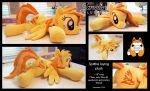 Laying Spitfire with brushed mane by JanellesPlushies