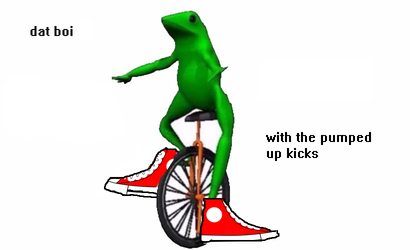 Dat Boi with the Pumped Up Kicks by RushingTsunami2004